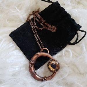 Handmade Moon Eye Necklace